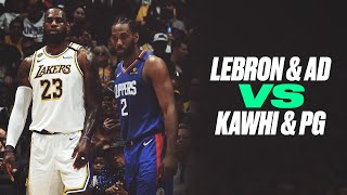 LeBron and AD vs. Paul George and Kawhi Battle It Out In A Possible Western Conference Preview