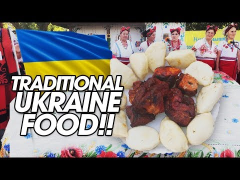 Traditional Ukrainian Food Challenge W/ Shashlik, Vareniki, And Borscht!!