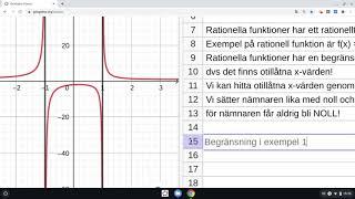 GeoGebra - Grafanalys - Rationella uttryck och funktioner