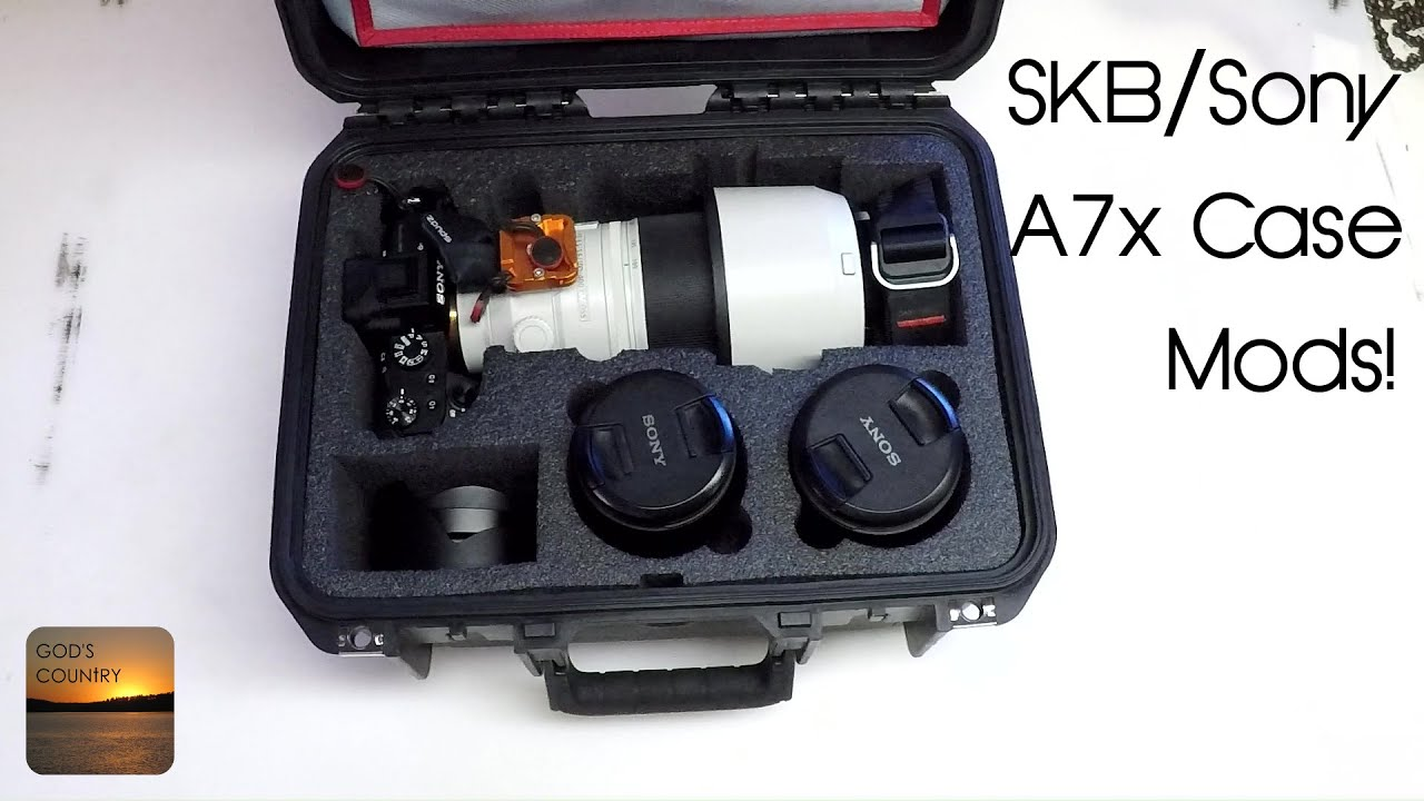 SKB Sony A7x Camera Case Modified to Fit 100-400 and Think Tank Lid Organizer