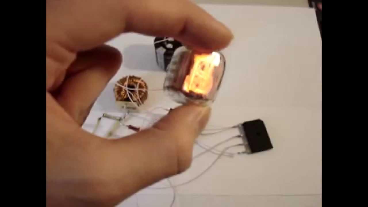 Как включить газоразрядный индикатор ИН-12А #1 - YouTube
