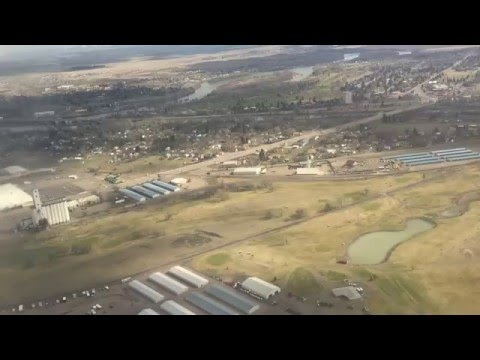 Flying into Great Falls, Montana