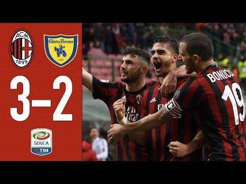 Highlights AC Milan 3-2 Chievo Verona - Serie A TIM 2017/18 - 19/3/2018