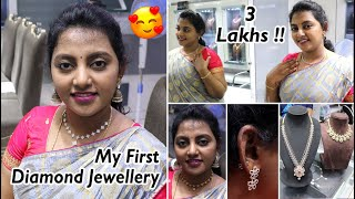 DIAMOND Gift for me 💘❤️💘 My First Diamond Jewellery 💎💎Karthikha Channel Vlog