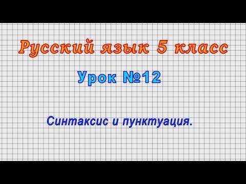 Видеоурок синтаксис и пунктуация