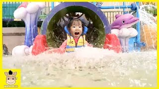 Indoor Water Park Play Day playground Family Fun in the Pool Rainbow Slide | MariAndKids Toys