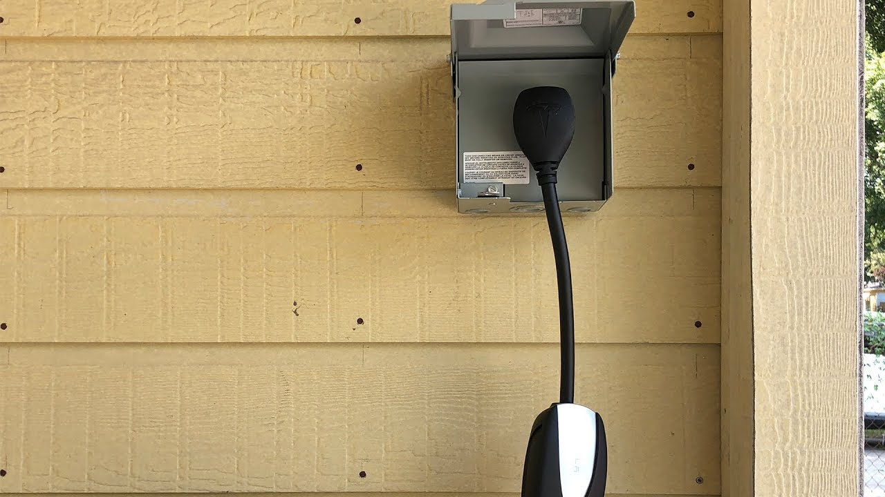 small resolution of installing an outdoor nema 14 50 outlet for charging tesla