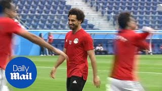 June: Egypt's Mo Salah trains in Russia ahead of World Cup clash - Daily Mail