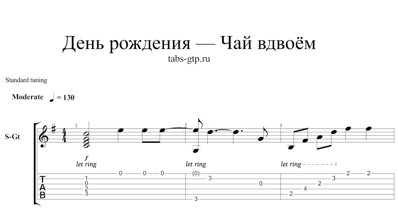 с днём рождения тебя аккорды для гитары