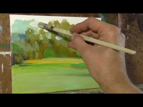 Tree Landscape REALTIME Oil Painting demo
