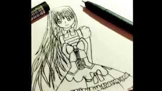 Draw Cute Lolita Manga girl