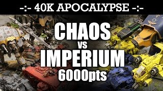APOCALYPSE Imperium vs Chaos 40K Battle Report THE WRATH OF ABADDON! 7th Edition 6000pts | HD