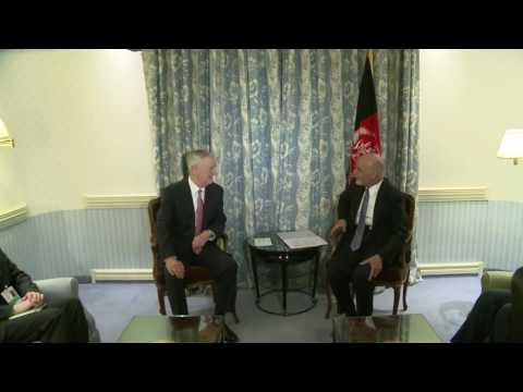 Secretary of Defense Jim Mattis meets President of Afghanistan, Ashraf Ghani