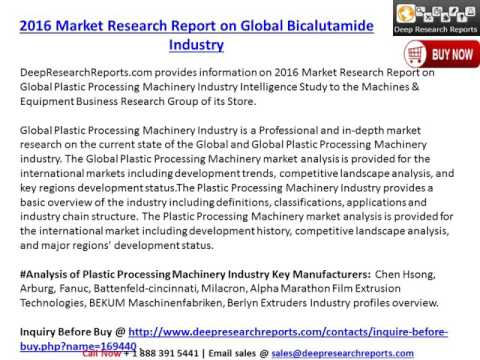 2016-2021 Global Plastic Processing Machinery Industry Trends Survey and Prospects Report