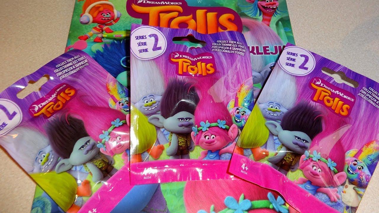 10 X TROLLS BLIND BAGS SERIES 4 SUPRISE MINI FIGURE HASBRO DREAMWORKS PARTY GIFT