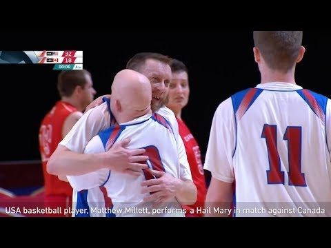 None - USA Player Ends Special Olympics Game With 75-Foot Buzzer-Beater