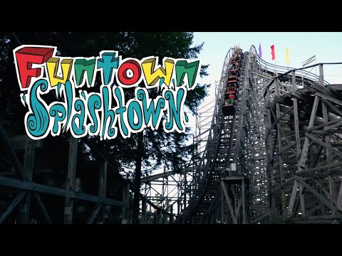 Cinematic Funtown Splashtown U.S.A August 2019 4K Footage