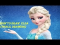 How to Draw Elsa (Frozen) pencil drawing