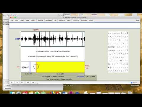 How to annotate audio using Praat