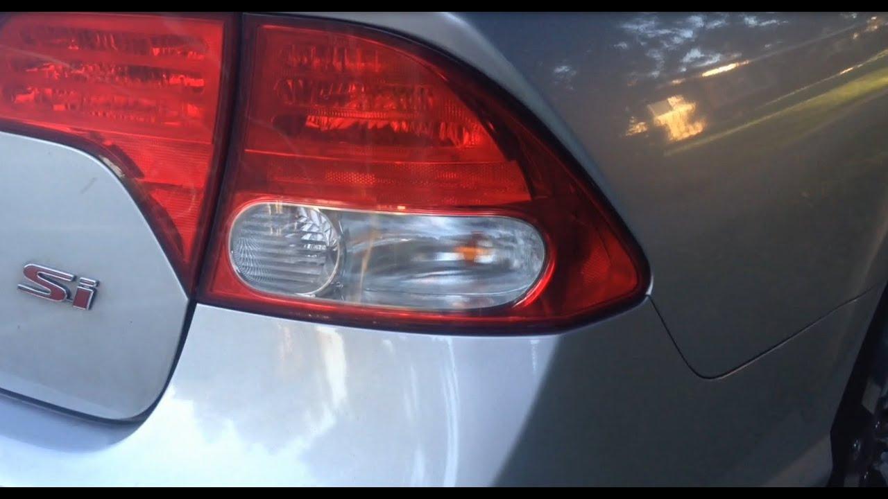 2010 Honda Civic Si >> Replacing a Side Brake Light / Bulb on an 8th Generation ...