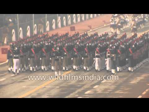 NCC contingent parades on Rajpath : India celebrates Republic Day
