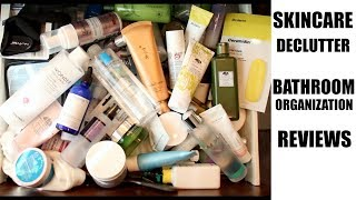 Skincare Declutter || Bathroom Reorganization + So Many Reviews!