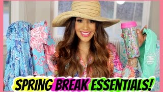 SPRING BREAK ESSENTIALS | ALEXANDREA GARZA