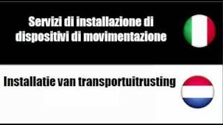 Italiano   Olandese = Installatie van elektrische en mechanische uitrusting