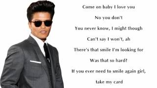 Bruno Mars Perm lyrics