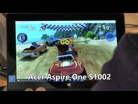 Acer One S1002 $179 detachable Win 10 tablet demo, overview, games