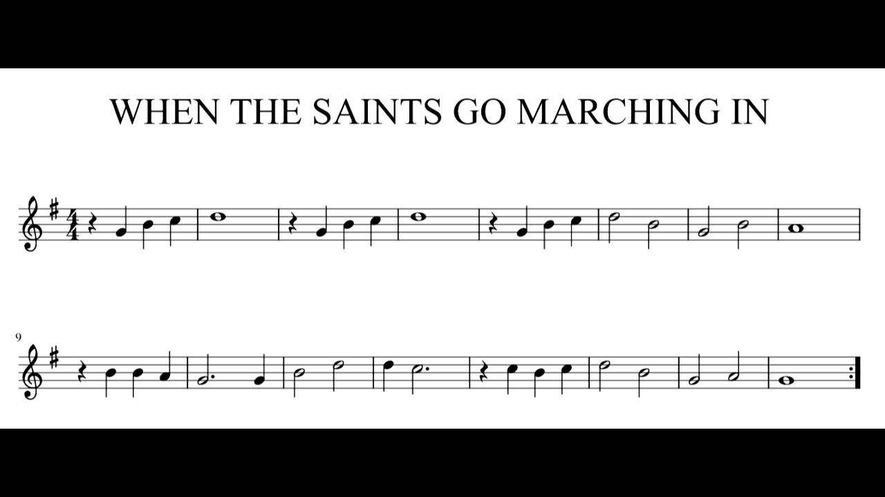 When The Saints Go Marching In - Play along (Bb key trumpet/tenor  sax/clarinet)