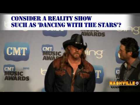 Blake Shelton and Trace Adkins Backstage at CMT Awards