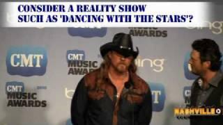 Blake Shelton and Trace Adkins Backstage at CMT Awards