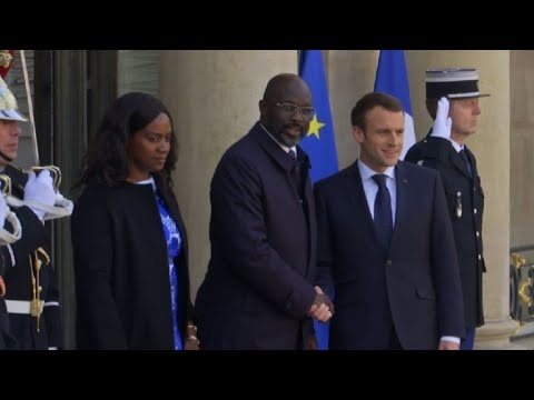 France's Macron meets with new Liberia President Weah
