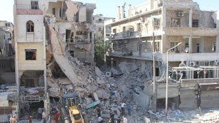 قوات النظام تشن غارات على حلب وسقوط قتلى للنظام