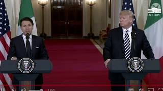 Watch US President Donald Trump and Italian PM Giuseppe Conte LIVE at the White House