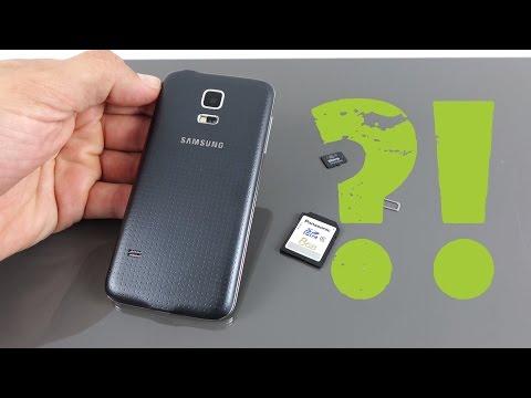 Samsung Galaxy S5 mini microSIM / microSD Karte einlegen