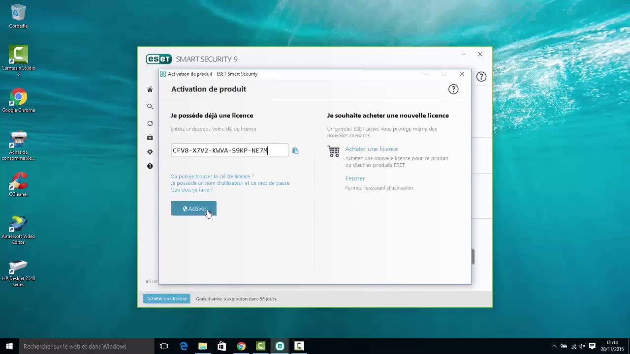 Eset Smart Security 10 License Key Full Version Youtube