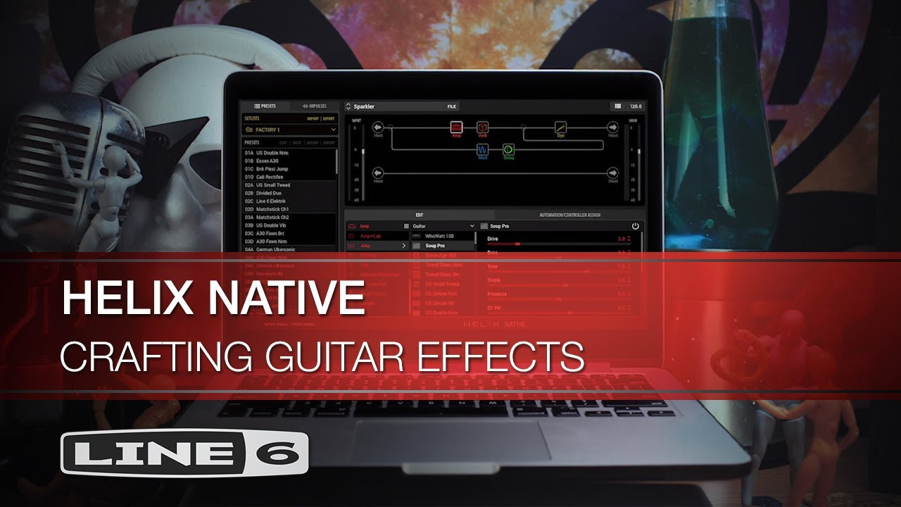 Guitar Effects Crafted Using the Helix Native Plug-In I Line 6