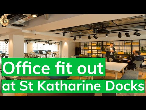Office fit out for Clarksons at St Katherine Docks London