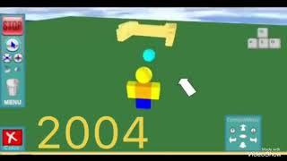 Roblox gameplay evolution 2004-2018