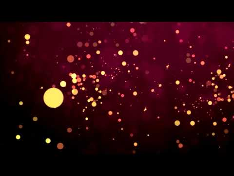 Golden Blinking Bokeh Particle Background Video ~ Free Motion  Graphics ~No Copyright Particle Video
