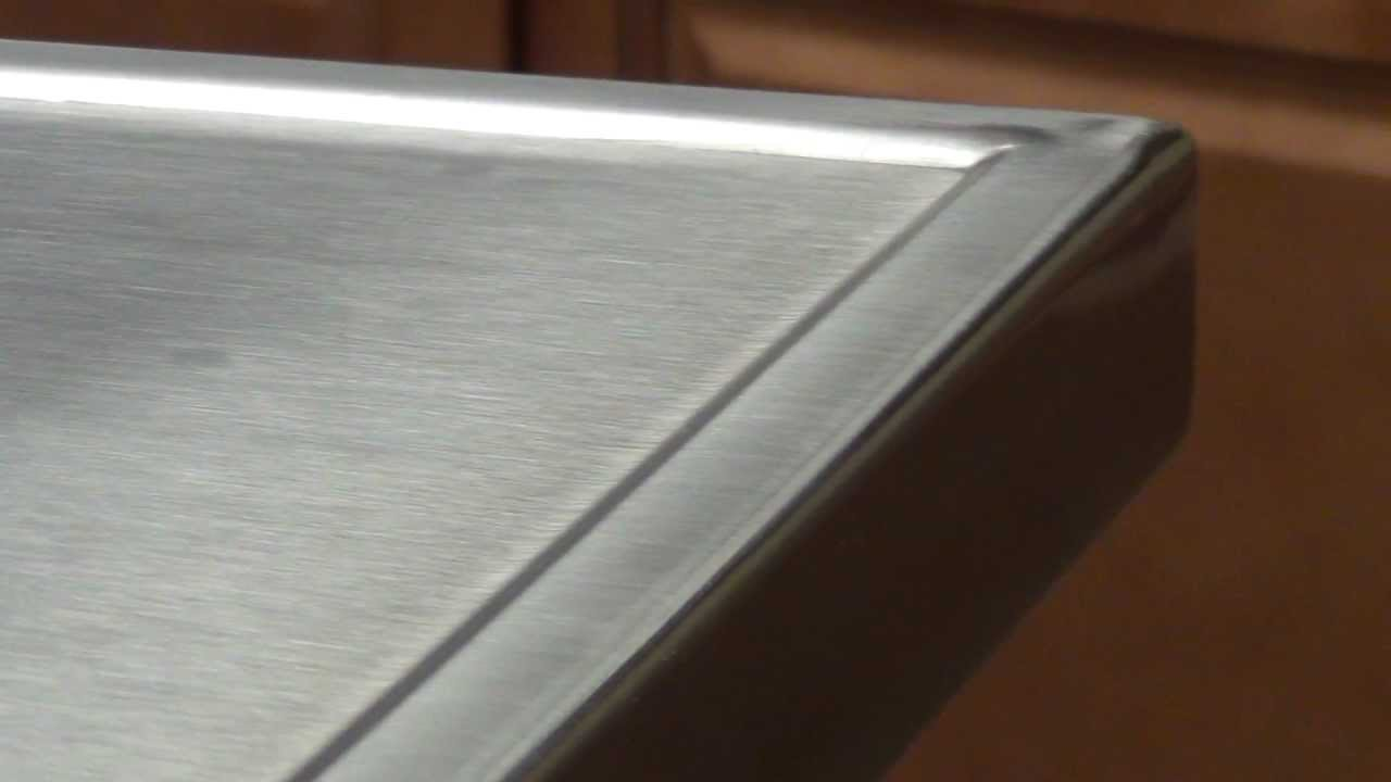 Quot No Drip Quot Countertop Edge By Advance Tabco Youtube