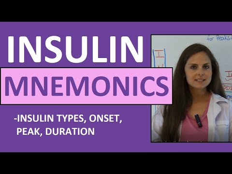 Insulin onset peak duration mnemonic types of nursing nclex review youtube also rh