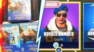 How I Got The New ROYALE BOMBER Bundle Free At Gamestop! (New Fortnite Battle Royale Skins)