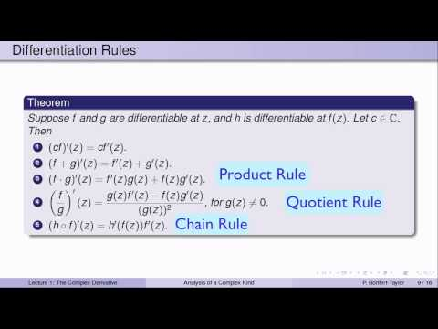 Week3Lecture1: The complex derivative