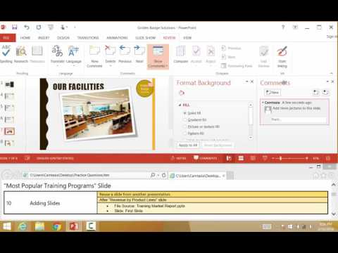 Microsoft PowerPoint 2013 Review MOS Exam Part 1