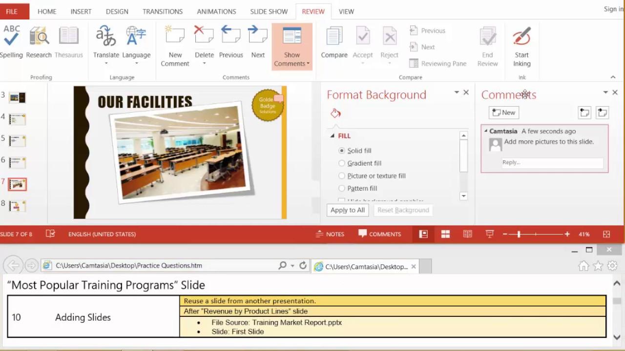 microsoft powerpoint 2013 review mos exam part 1 youtube rh youtube com Study Guide Exam Outlines Exam Study Tips
