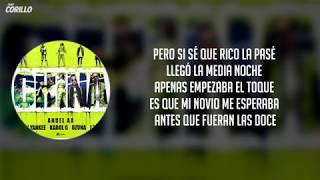 China - Anuel AA, Karol G, J Balvin, Ozuna, Daddy Yankee (Letra)