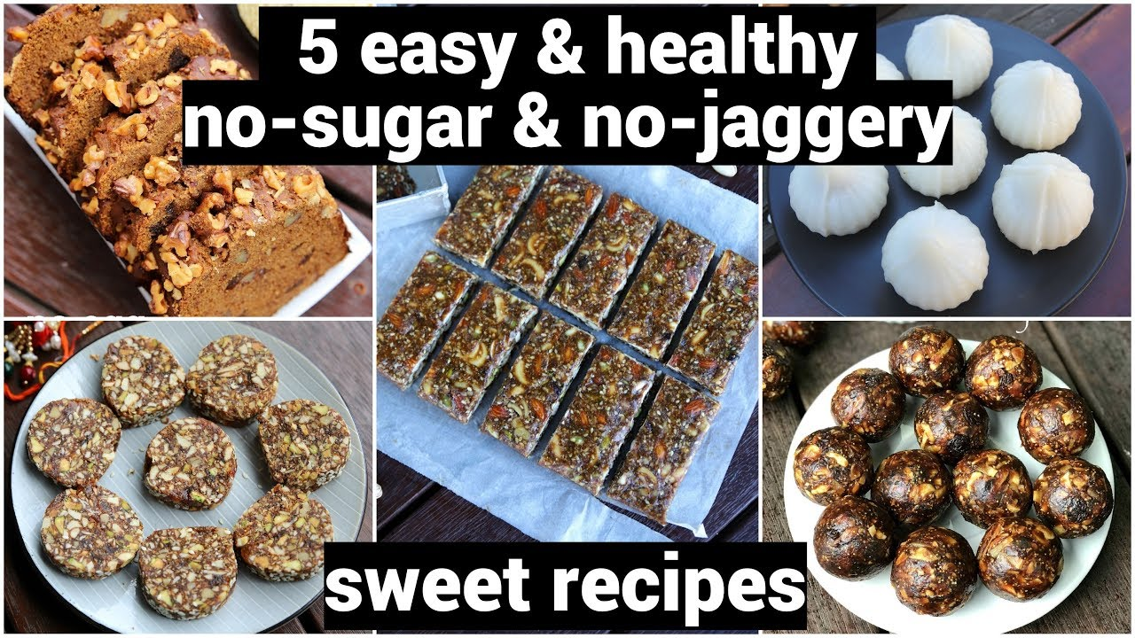 5 Healthy No Sugar Sweet Recipes Diabetic Recipes ब न शक कर क म ठ ई Sugarless Diet Desserts